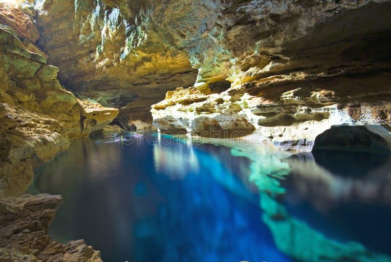 Piscina della caverna immagine stock