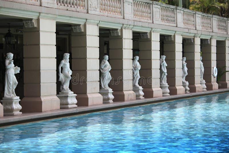 Piscina en el hotel de Biltmore, Coral Gables, la Florida imagenes de archivo