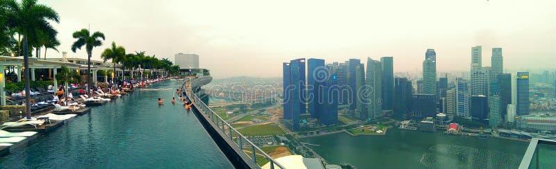 Piscina en el hotel de Marina Bay Sands