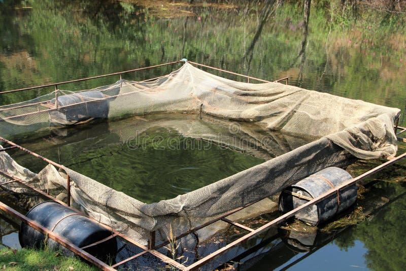Piscina en el lago en Turquía, usada para criar la trucha fotos de archivo