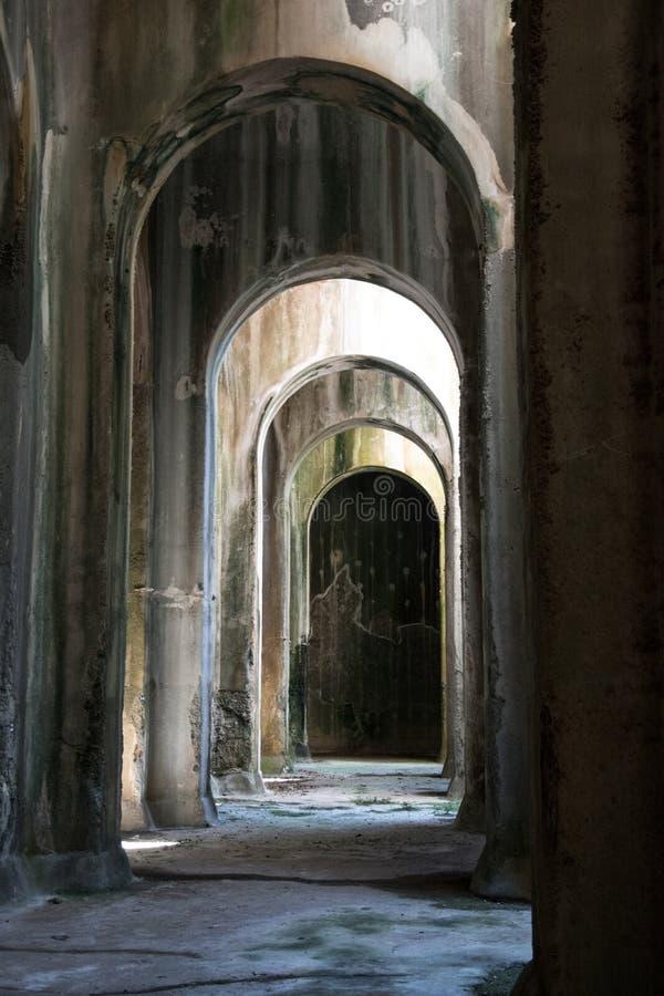 Piscina-Mirabilis in Bacoli, Neapel lizenzfreies stockbild