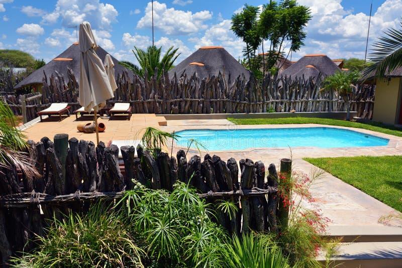 Piscina, Namibia fotografía de archivo