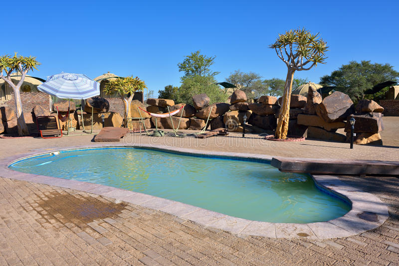 Piscina, Namibia imagenes de archivo
