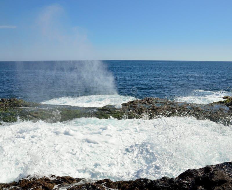 Piscina natural con agua en efervescencia completa fotos de archivo libres de regalías