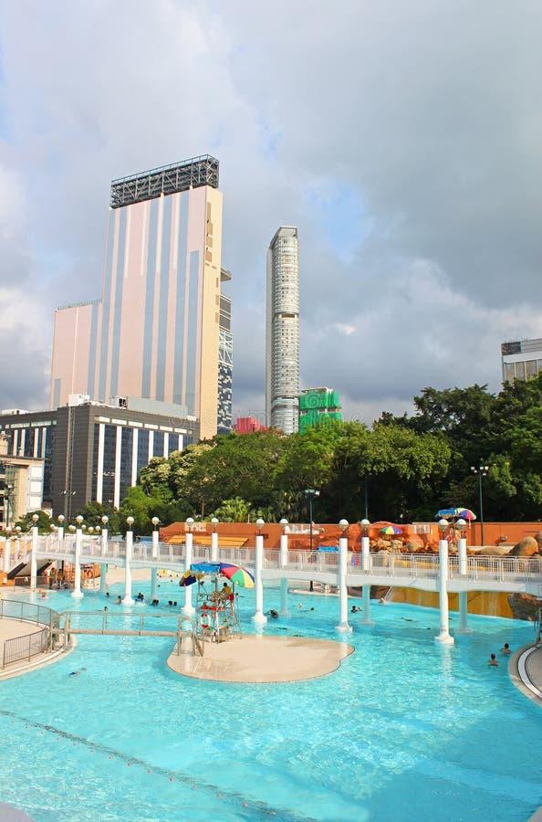 Piscina pubblica nel parco di Kowloon fotografia stock libera da diritti
