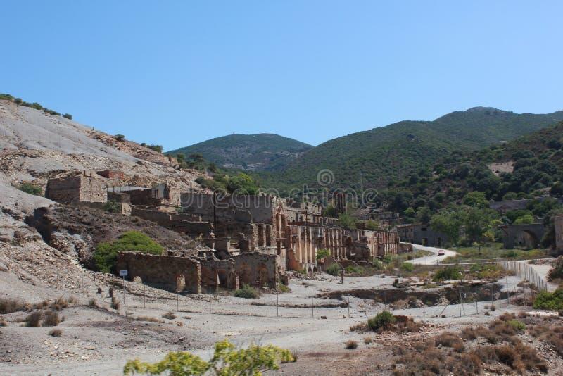 Piscinas öken och de gamla minerna inom det Costa Verde området - Sardinia - Italien arkivbild