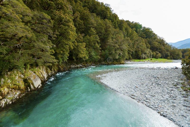 Piscinas azules en parque nacional de aspiración del soporte foto de archivo libre de regalías
