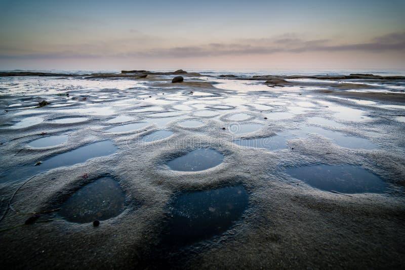 Piscinas de la marea de La Jolla fotografía de archivo
