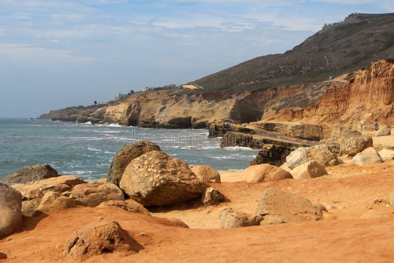Piscinas de marea - monumento nacional de Cabrillo imagenes de archivo