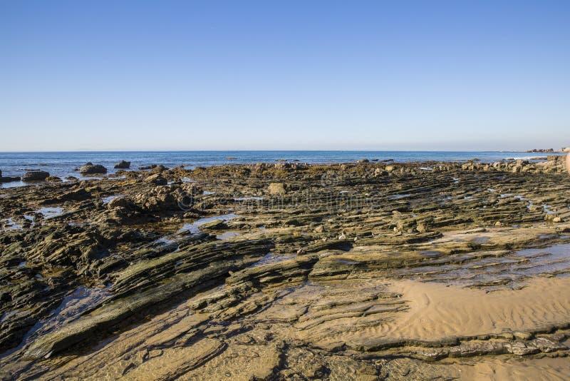 Piscinas hermosas meridionales de la marea de California imagenes de archivo