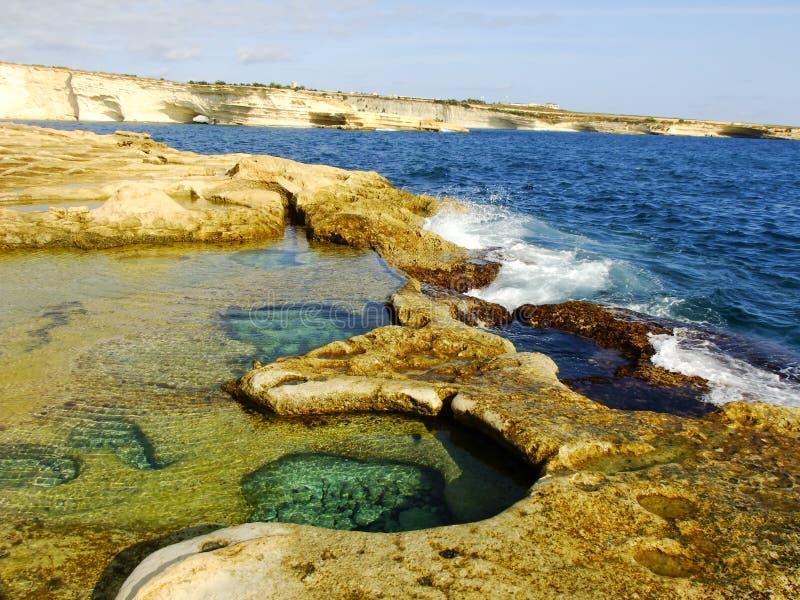 Piscinas Naturales En Malta Imagen De Archivo Imagen De