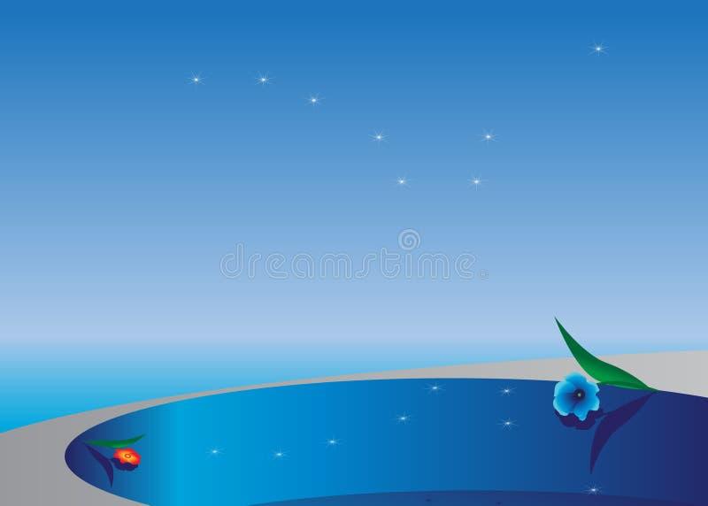 Piscine. illustration de vecteur