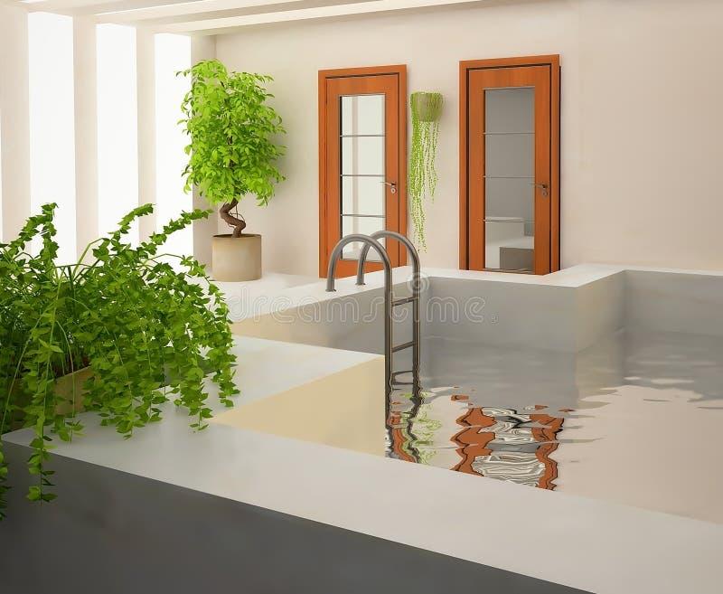 piscine 3D illustration de vecteur