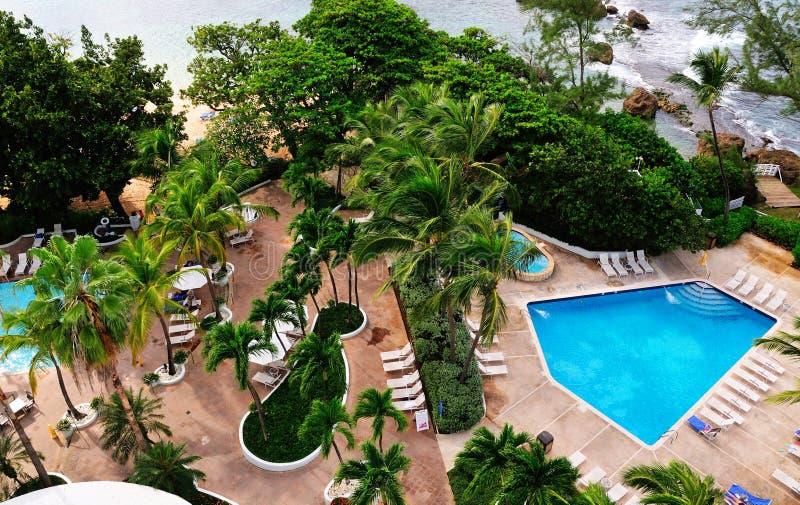 Piscine côtière à San Juan image libre de droits