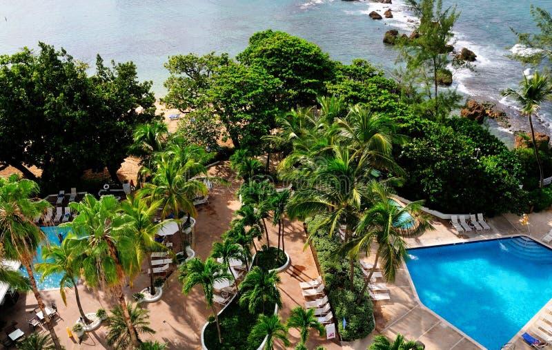 Piscine côtière à San Juan photos stock