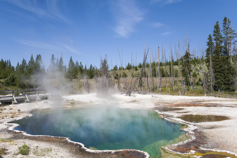 Piscine chaude en parc national de Yellowstone images stock