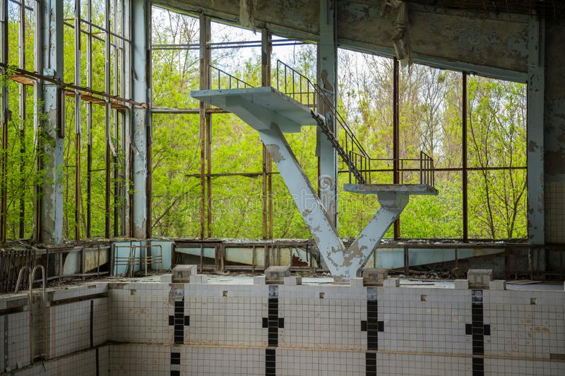 Piscine ? Chernobyl photographie stock