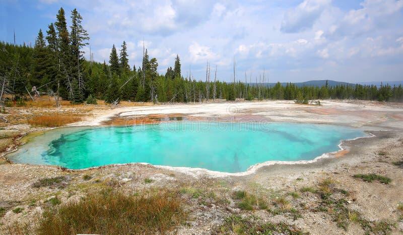 Piscine d'abîme en parc de Yellowstone photo libre de droits