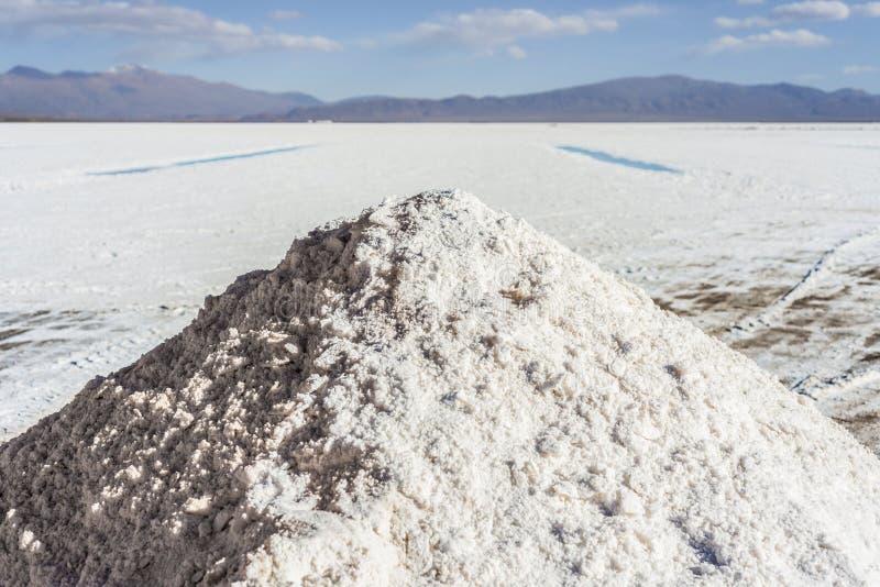 Piscine d'eau sur des salines Grandes Jujuy, Argentine photo libre de droits