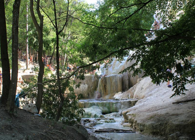 Piscine de Bagni San Filippo Hot Springs photographie stock