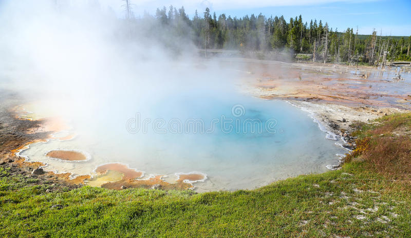Piscine de geyser au parc national de Yellowstone images libres de droits