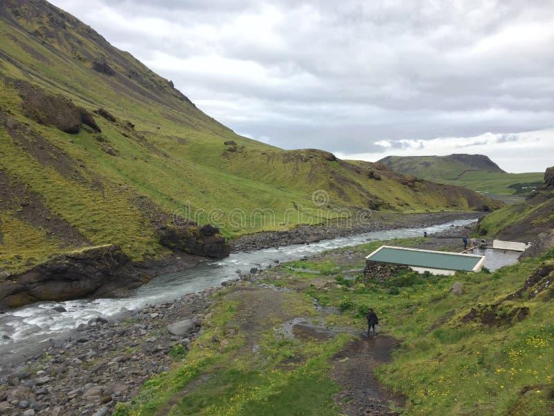 Piscine de l'Islande photo stock