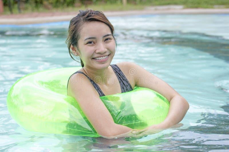 Piscine de Madame In The Swimming photos stock