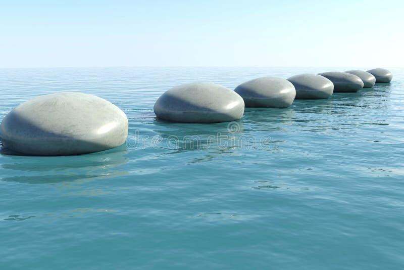 Piscine de roche de zen illustration de vecteur