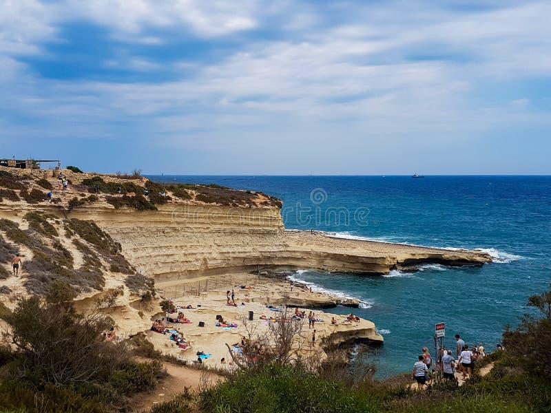 Piscine du ` s de St Peter à Malte image stock
