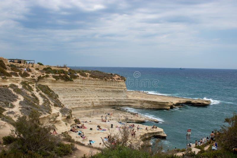 Piscine du ` s de St Peter à Malte image libre de droits