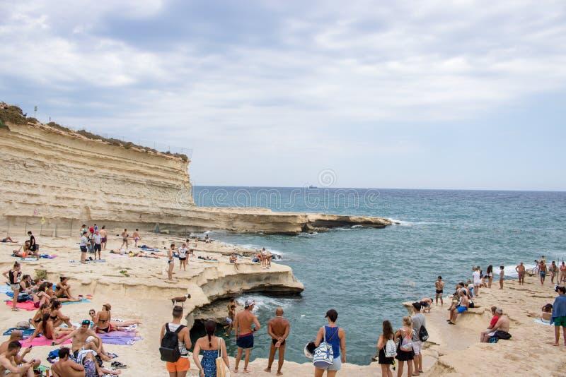 Piscine du ` s de St Peter à Malte images libres de droits