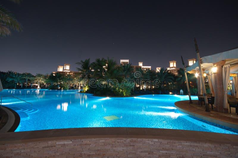 Piscine, Dubaï image stock