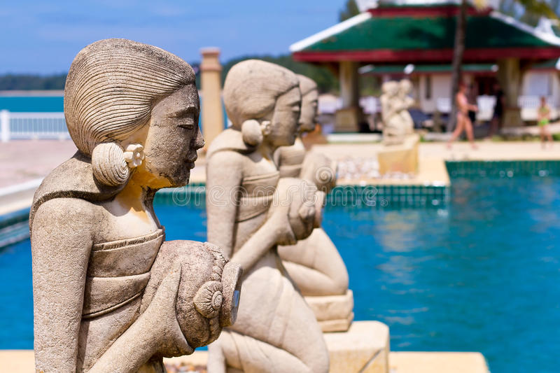 Piscine Tropicale En Thaïlande Photographie stock libre de droits