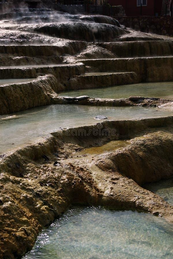 Piscines de travertin et terrasses naturelles, Pamukkale, Turquie photos libres de droits