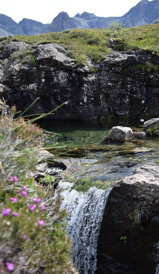 Piscines féeriques, île de Skye, Ecosse photos libres de droits