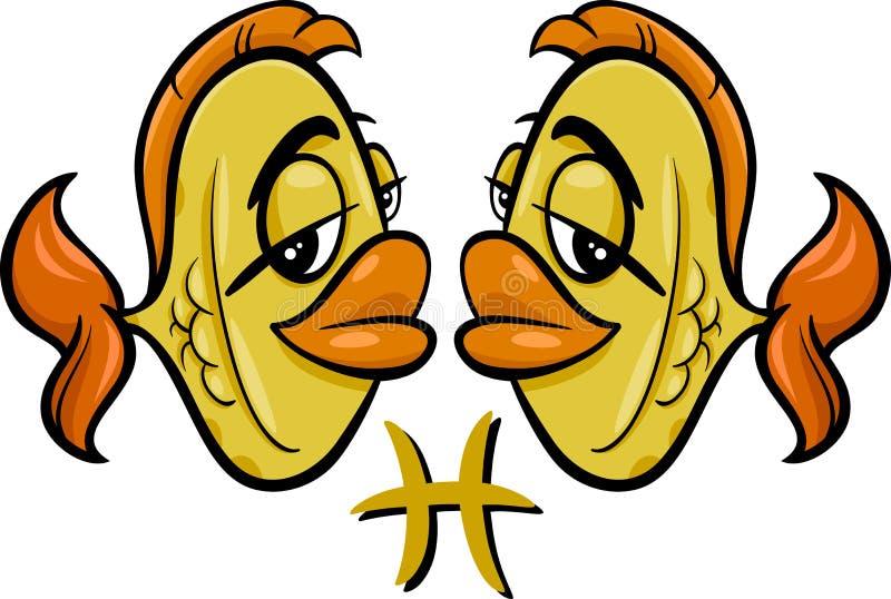 Piscis o la muestra del zodiaco de los pescados libre illustration