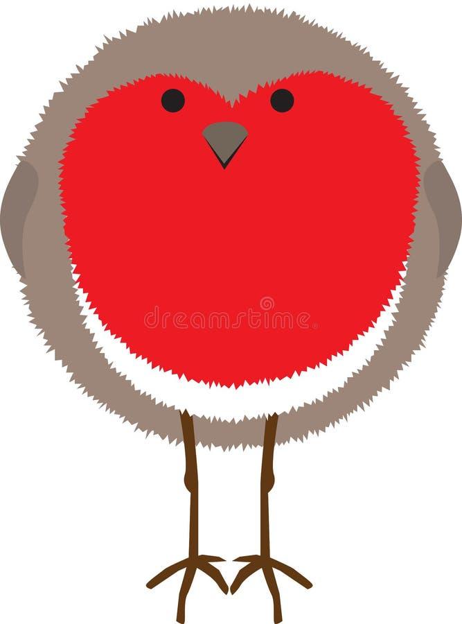 Pisco de peito vermelho ilustração stock
