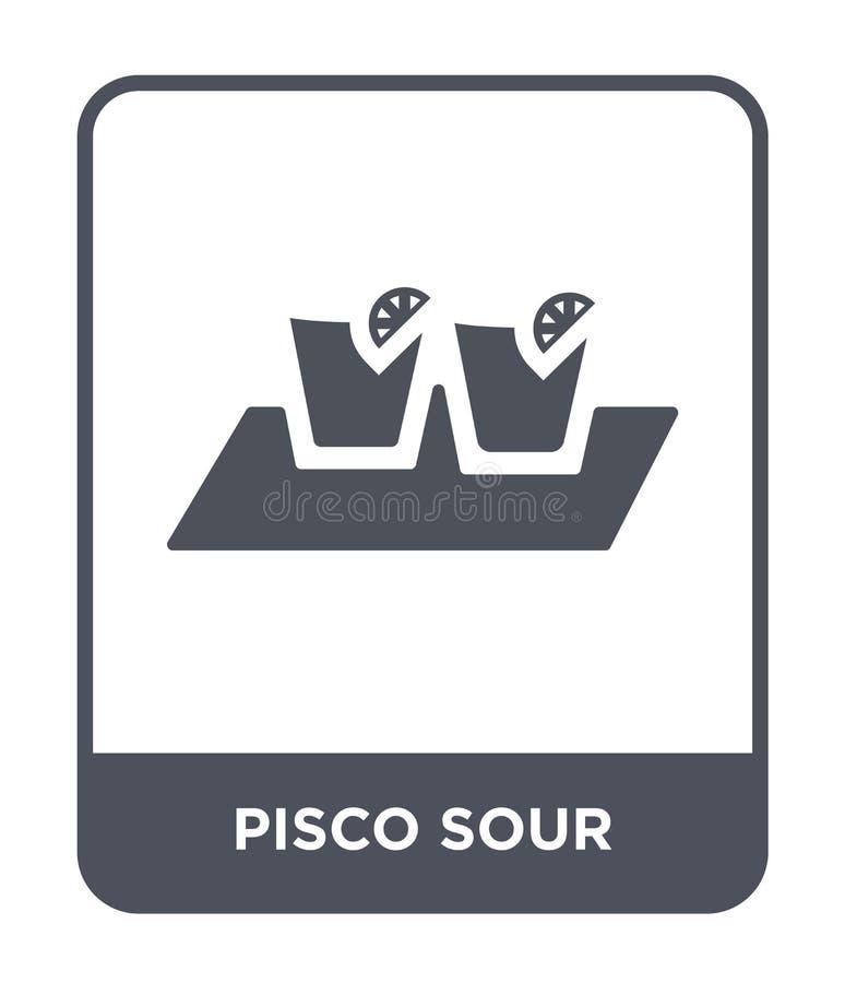 pisco kwaśna ikona w modnym projekta stylu pisco kwaśna ikona odizolowywająca na białym tle pisco kwaśna wektorowa ikona prosta i ilustracji