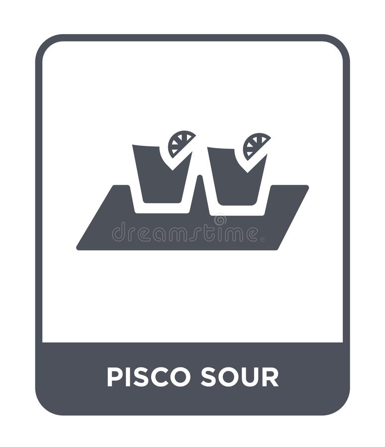 Pisco sour icon in trendy design style. pisco sour icon isolated on white background. pisco sour vector icon simple and modern. Flat symbol for web site, mobile stock illustration