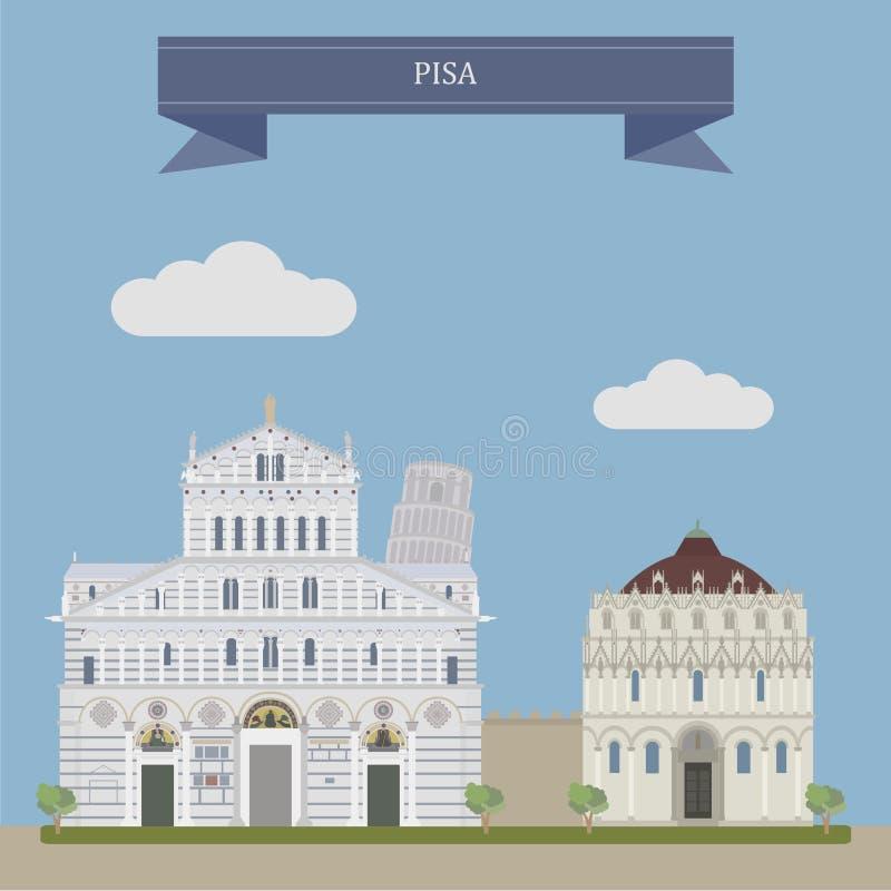 Pise, Italie centrale illustration libre de droits