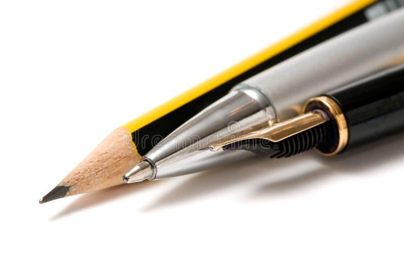 pisemne narzędzi, zdjęcie stock
