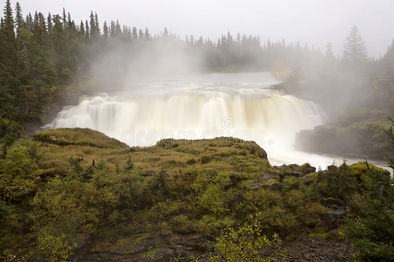 Pisew Falls Northern Manitoba Canada royalty free stock images