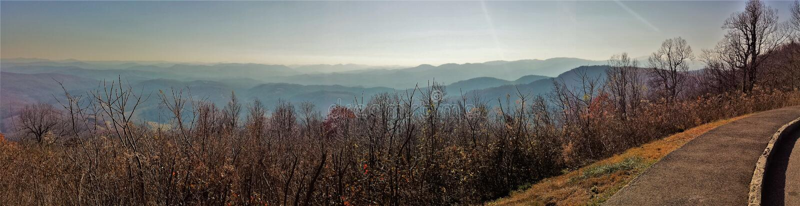 Pisgah-staatlicher Wald von blauen Ridge Parkway lizenzfreie stockfotos