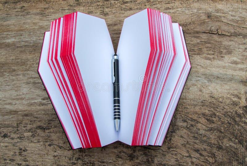 Piska boken i form av kistan, med Ankh royaltyfri fotografi