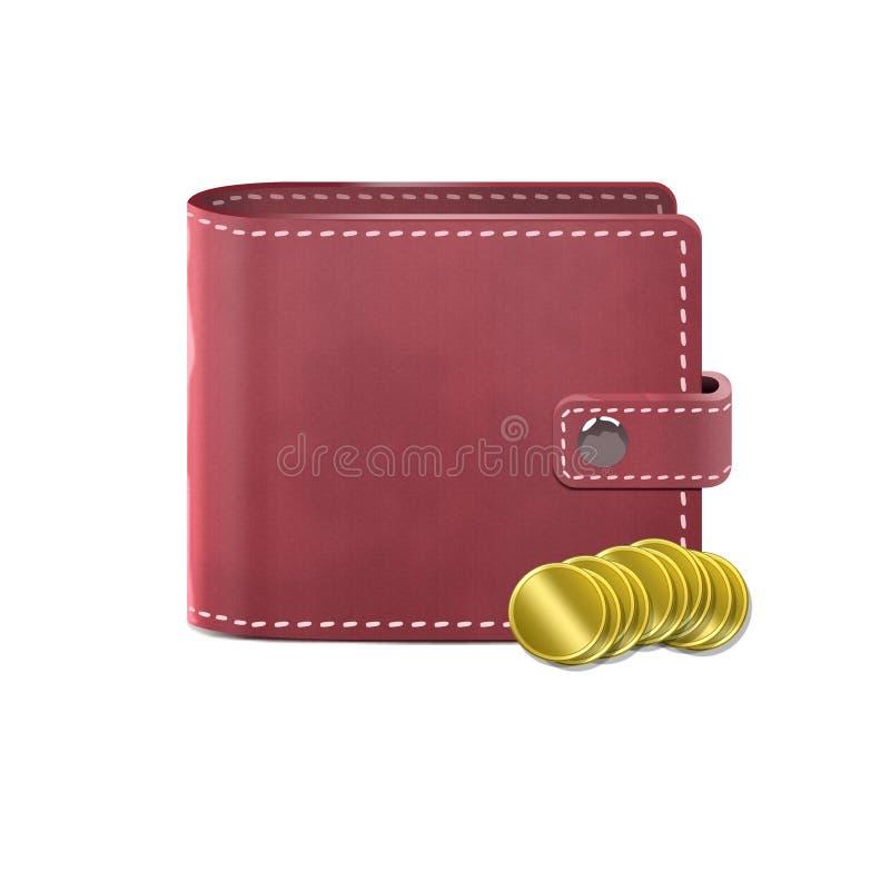 piska plånboken arkivbild