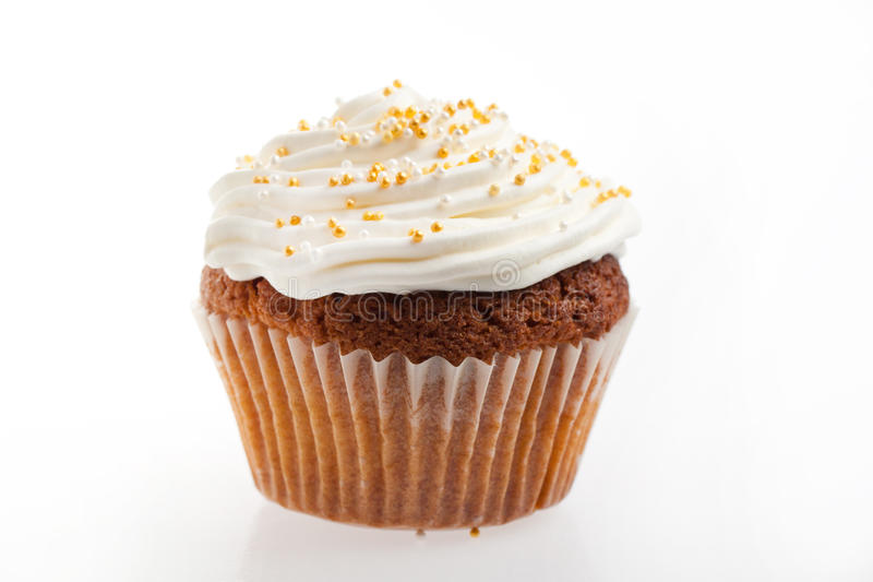 piskad kräm- muffin royaltyfri fotografi
