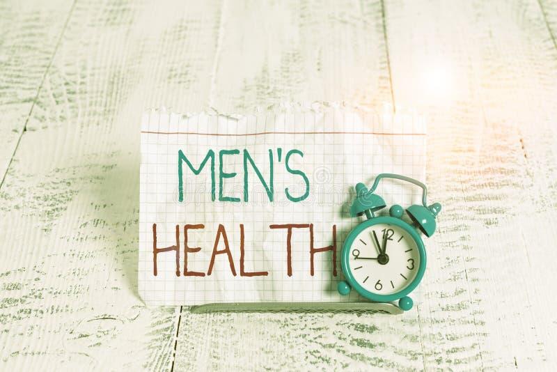Pismo przedstawiające zdrowie mężczyzn Fotografia biznesowa ukazująca stan pełnego samopoczucia fizycznego i psychicznego mężczyz fotografia stock