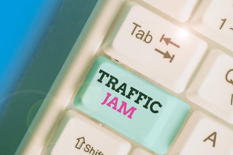 Pismo ręczne piszące tekst Traffic Jam Pojęcie oznacza dużą liczbę pojazdów blisko siebie i niezdolnych do poruszania się obraz stock