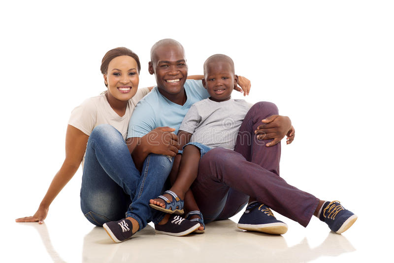 Piso africano de la familia foto de archivo libre de regalías