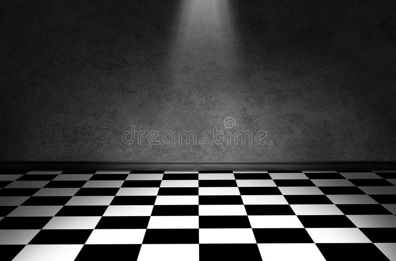 Piso blanco y negro del control imagenes de archivo